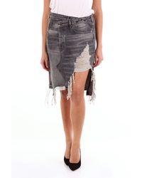 R13 Faldas tela vaquera - Negro