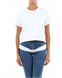 Helmut Lang Camiseta blanca de manga corta - Blanco