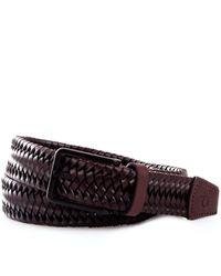Calvin Klein K50k505450 cintura in pelle intrecciata - Nero