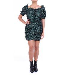 Glamorous Vestido corto negro y verde oscuro - Multicolor