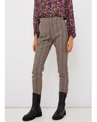 Liu Jo Pantalone in principe di gallesinterventi lurexvita altagamba asciutta bottoni gioiello sul davanti 63%pl 33%vi 2%me 2%ea - Gris