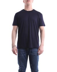 Paolo Pecora T-shirt kurzarm herren - Blau
