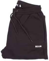 MSGM Pantalon régulier - Noir