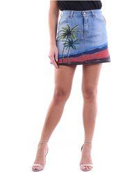 Manila Grace Bermuda en jean bleu