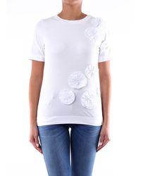 Alpha Studio - T-shirt maniche corte di colore bianca - Lyst