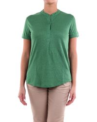 Majestic Filatures T-shirt manica corta verde prato