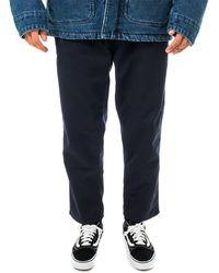 Carhartt WIP Pantaloni abbott pant i025813.1c - Blu