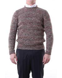 Alpha Studio Suéter con cuello redondo - Marrón