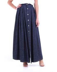 WEILI ZHENG Jupe longue en jean foncé - Bleu
