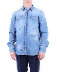 Eleventy Camisas tela vaquera - Azul