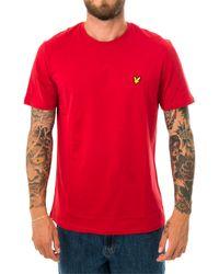 Lyle & Scott T-shirt plain ts400v.w115 - Rosso