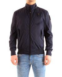 Blauer Capispalla giacche a vento unico - Blau