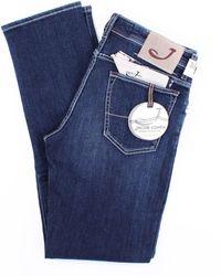 Jacob Cohen - Jean modèle 625 bleu foncé - Lyst