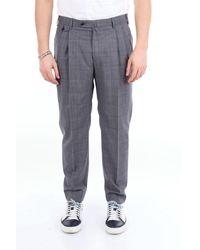 PT Torino Pantalon prince de galle en laine vierge - Gris
