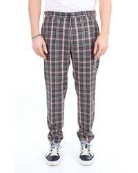 PT Torino Pantalon capri à motif prince de galles - Multicolore
