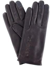 Calvin Klein K60k605759 guanti in pelle - Negro