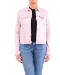 J Brand Giacca corta in jeans color rosa antico