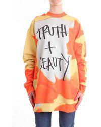 Marques'Almeida Slogan sweater - Jaune
