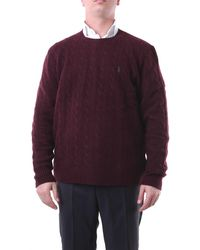 Polo Ralph Lauren Jersey burdeos con cuello redondo de - Morado