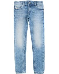 DIESEL Vestibilità skinny, vita regolare, button-fly, in denim stretch - Bleu