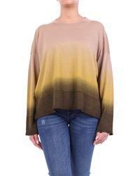 Altea Jersey de cuello redondo en color camel - Multicolor