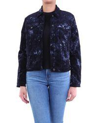 J Brand Veste courte en tissu - Bleu