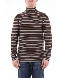 Paolo Pecora Pull col roulé en laine multicolore