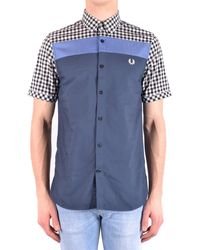 Fred Perry Camisas casual - Azul