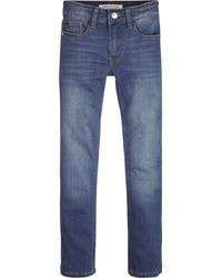 Calvin Klein Jeans con vestibilità slim, in denim strtch trattamento leggero old - Blu