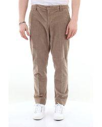 Dondup Pantalone gaubert in velluto a coste tinta unita - Multicolore