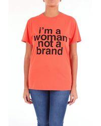 Erika Cavallini Semi Couture - T-shirt arancione - Lyst