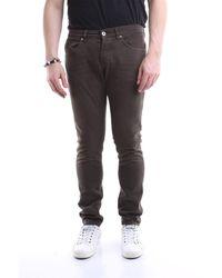 Dondup Pantalon modèle george de couleur - Marron