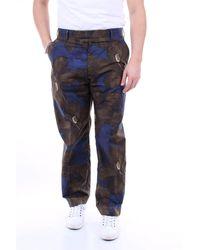 Dries Van Noten Pantalon vert et bleu