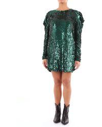 P.A.R.O.S.H. Vestido corto con lentejuelas verde esmeralda de