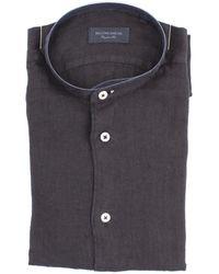 MASTRICAMICIAI Camisa de lino - Negro