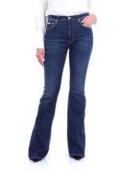 People Blue jeans con fondo ancho - Azul