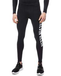 Calvin Klein Pantalones para el gimnasio con logo - Negro
