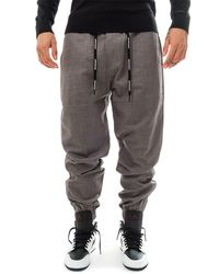 Calvin Klein Pantaloni tuta mix media wool nylon j30j313142.005 - Grigio
