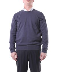 Della Ciana Jersey de cuello redondo gris oscuro - Azul