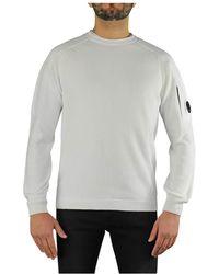 C.P. Company Maglione girocollo bianco