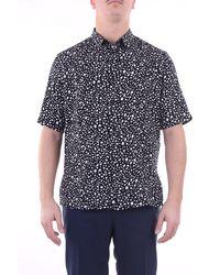 Saint Laurent Chemise noire à motifs