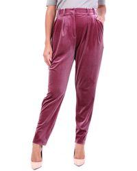 ACTUALEE Pantalon chino rose foncé - Rouge