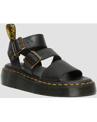 Dr. Martens Gryphon Women's Platform Gladiator Sandals - Black