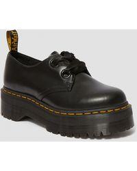 Dr. Martens Holly Leather Platform Shoes - Black