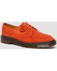 Dr. Martens 1461 Made In England Suede Oxford Shoes - Red