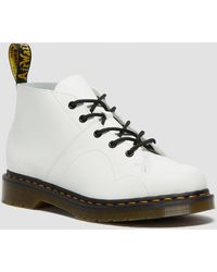 Dr. Martens Church Smooth Leather Monkey Boots - White