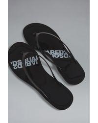 DSquared² Flip Flops - Black