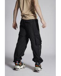 DSquared² - Cotton Combat Cargo Pants With Zip Details - Lyst