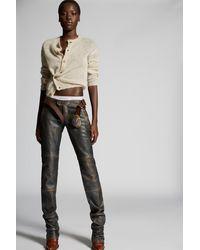 DSquared² Pantalon cuir - Marron