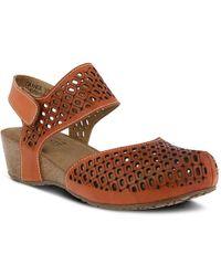 Spring Step Poppiri Wedge Sandal - Brown